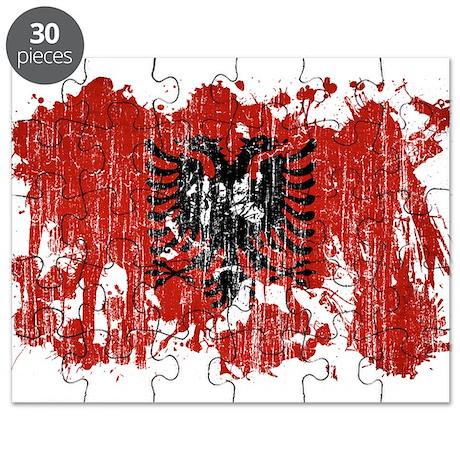 Albania Flag Puzzle