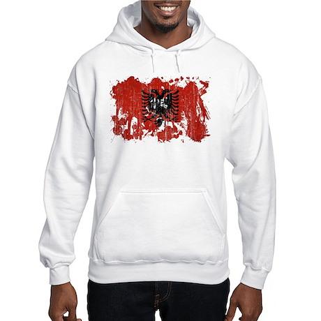 Albania Flag Hooded Sweatshirt