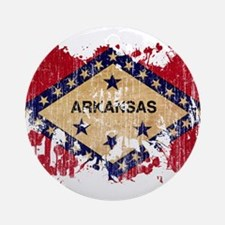 Arkansas Flag Ornament (Round)