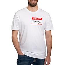 Madalyn, Name Tag Sticker Shirt