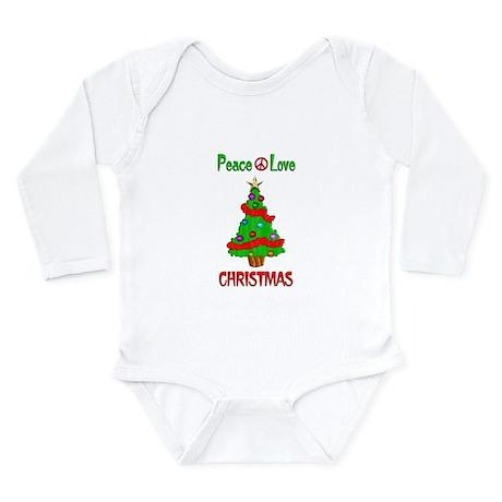 Peace Love Christmas Long Sleeve Infant Bodysuit