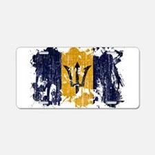 Barbados Flag Aluminum License Plate