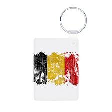 Belgium Flag Aluminum Photo Keychain