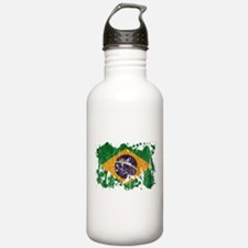 Brazil Flag Water Bottle