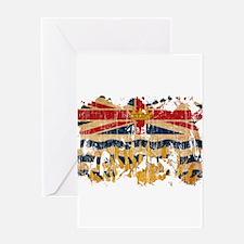 British Columbia Flag Greeting Card