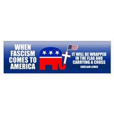 WHEN FASCISM COMES Bumper Bumper Sticker