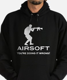 your doing it wrong - white.png Hoodie (dark)