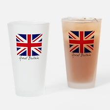 British Flag Union Jack Drinking Glass