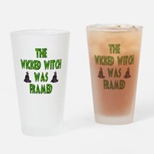 Wicked Witch Was Framed Drinking Glass