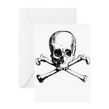 Skull And Crossbone Greeting Card