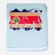 Costa Rica Flag baby blanket