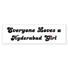 Loves Hyderabad Girl Bumper Bumper Sticker