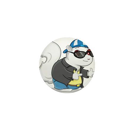 Cool White Squirrel Mini Button (10 pack)
