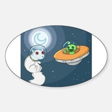 White Squirrel in Space Decal