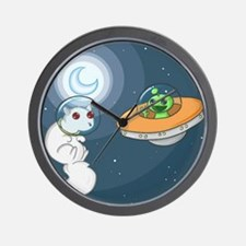 White Squirrel in Space Wall Clock
