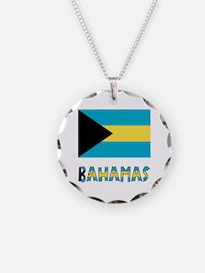 Bahamas Flag & Name Necklace