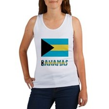 Bahamas Flag & Name Women's Tank Top