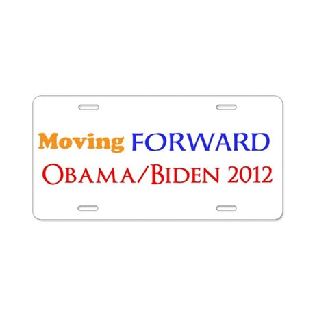 moving forward obama biden 2012 Aluminum License P