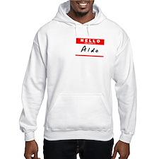 Aldo, Name Tag Sticker Hoodie