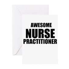 Awesome nurse practitioner Greeting Cards (Pk of 2