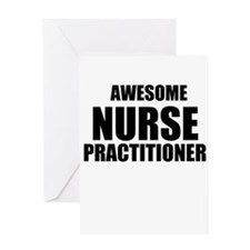 Awesome nurse practitioner Greeting Card