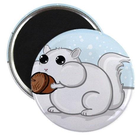 Squirrel With Nut Magnet