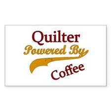 Quilter Powered By Coffee Stickers