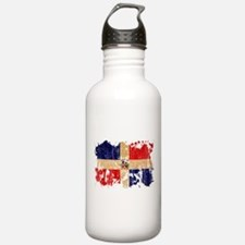 Dominican Republic Flag Water Bottle