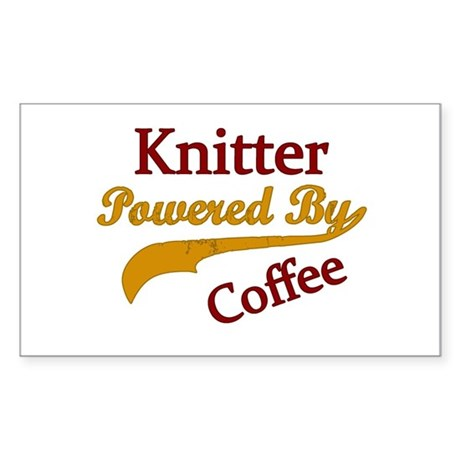 Knitter Powered By Coffee Sticker