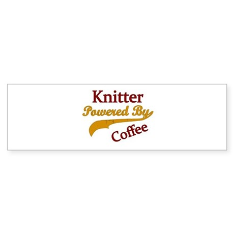 Knitter Powered By Coffee Bumper Sticker