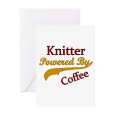 Knitter Powered By Coffee Greeting Cards