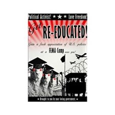 Re-Education Camp Ad Rectangle Magnet