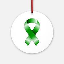 Green Ribbon Ornament (Round)