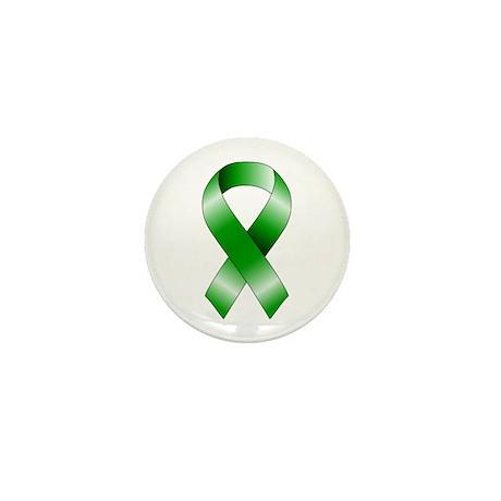 Green Ribbon Mini Button