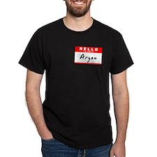 Aryan, Name Tag Sticker T-Shirt
