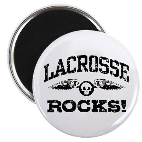 Lacrosse Rocks Magnet