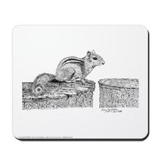 Chipmunk Pen and Ink Mousepad (w)