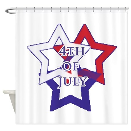 Red White And Blue Shower Curtain By Orangeflamingo