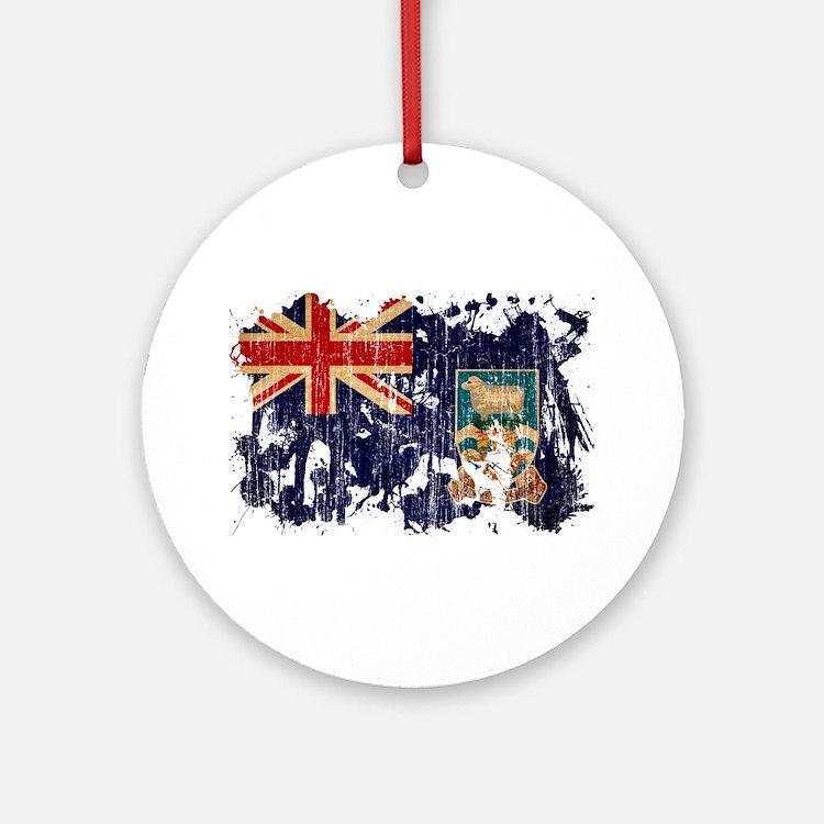 Falkland Islands Flag Ornament (Round)