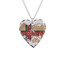 Faroe Islands Flag Necklace