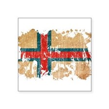 "Faroe Islands Flag Square Sticker 3"" x 3"""