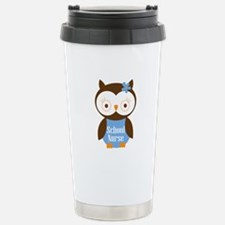 School Nurse Owl Travel Mug