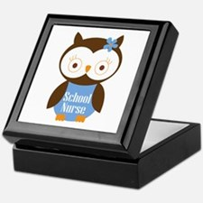 School Nurse Owl Keepsake Box