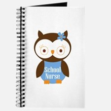 School Nurse Owl Journal