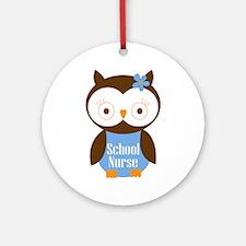 School Nurse Owl Ornament (Round)