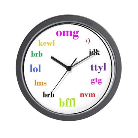 OMG Watch Rainbow Big Clock.jpg Wall Clock