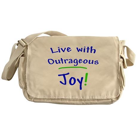 Blue Live With Outrageous Joy Messenger Bag