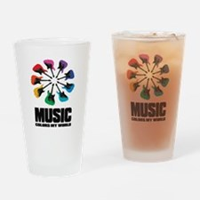 MUSIC COLORS MY WORLD Drinking Glass