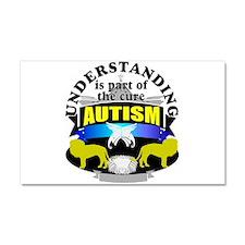 autismunder3.png Car Magnet 20 x 12