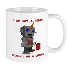I am not a robot. Clearly, I am a unicorn. Mug